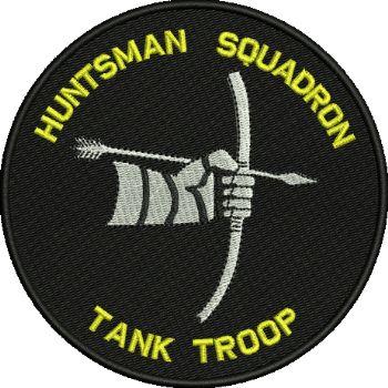 Huntsman Sqn Tank Troop Embroidered Badge